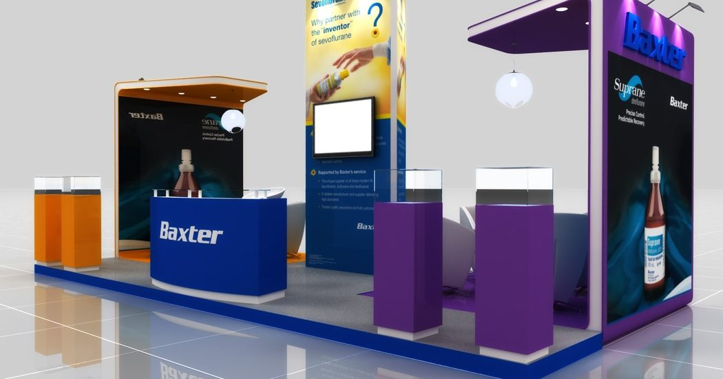 Baxter Exhibition Design Perspective View 1 by Cornerstone