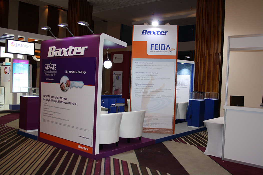 Baxter Exhibition Stand by Cornerstone